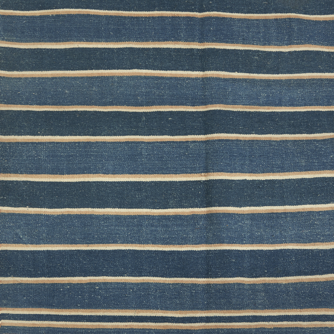 Indigo & Pale Blue Striped Dhurrie