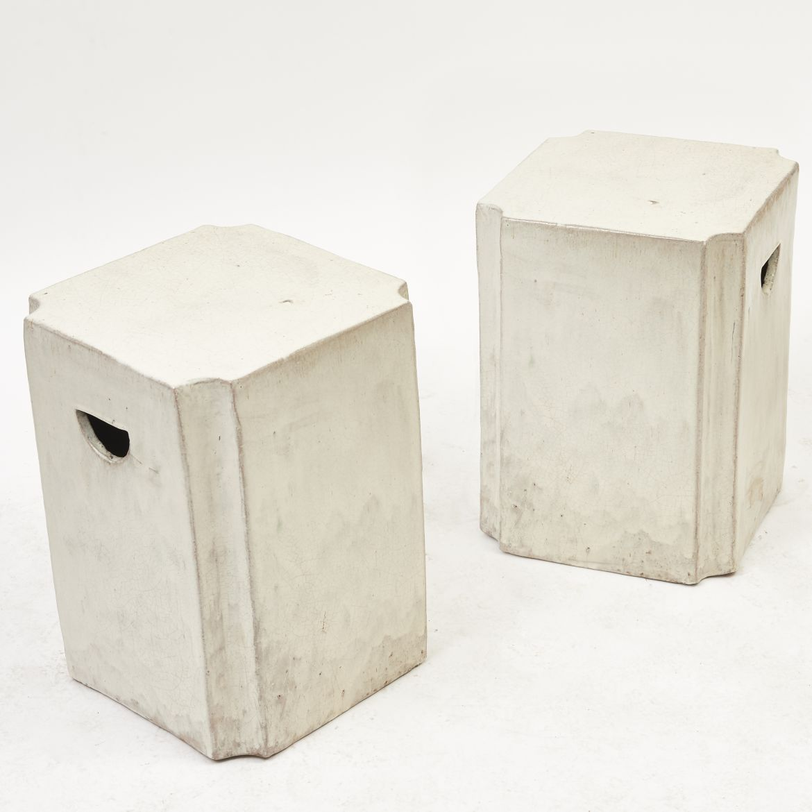 Chinese Canted Corner Garden stools