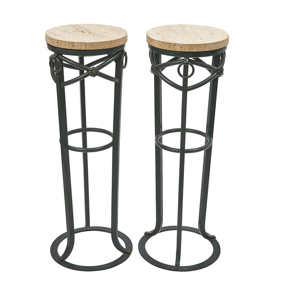 Pair Neoclassical Iron Stands