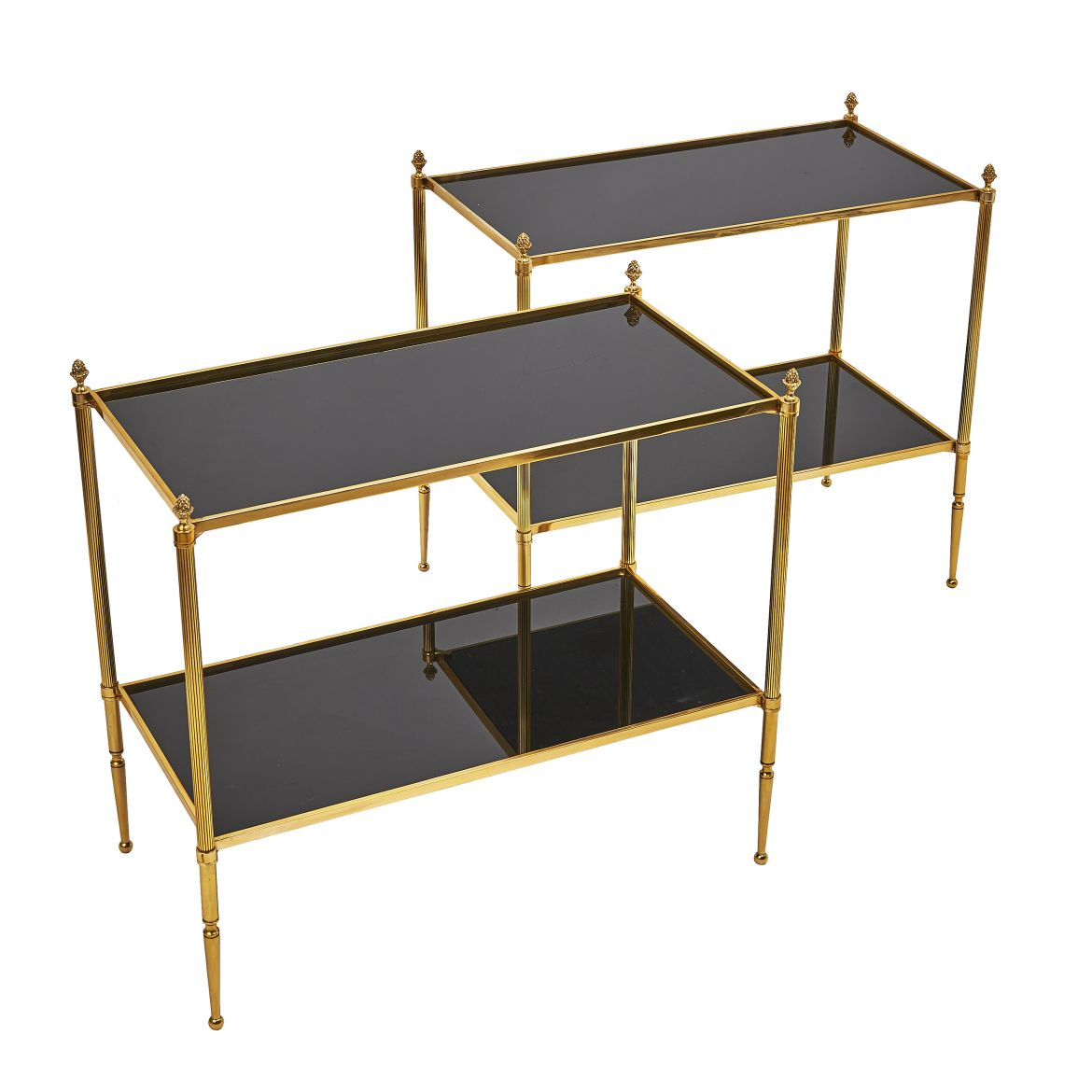 Pair of Rectangular Black Side Tables