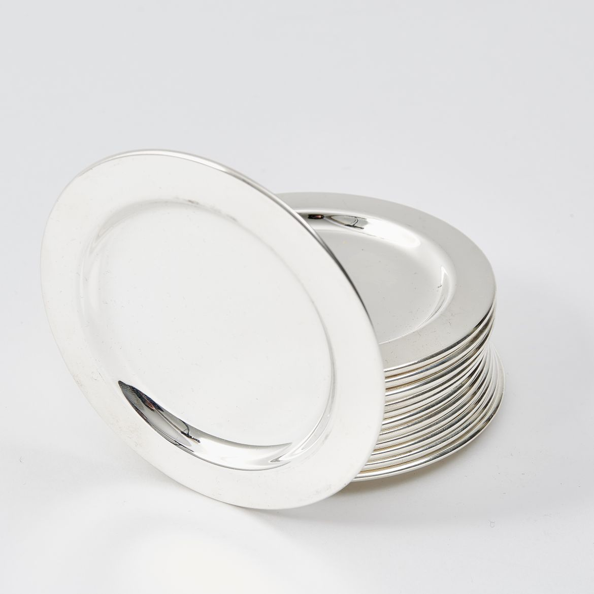 12 Silver Plate Coasters