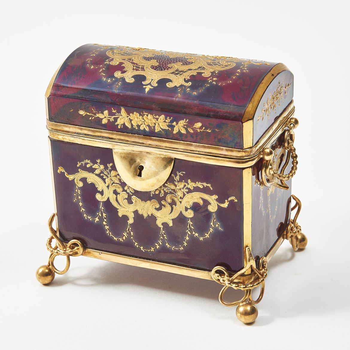 Red & Gilt Moser Casket