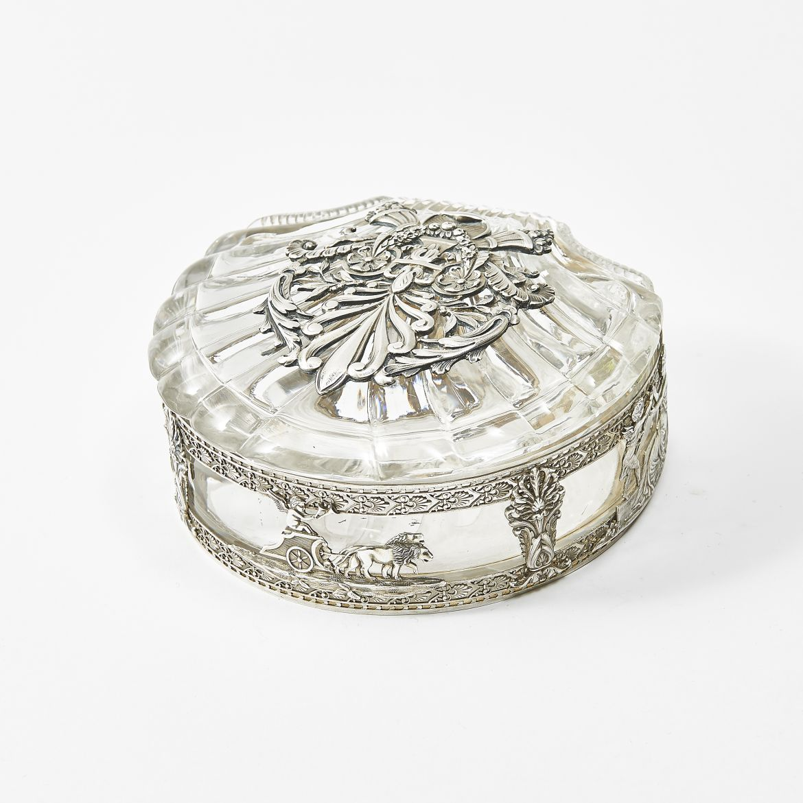 Shell Shaped Silver Box and Cover