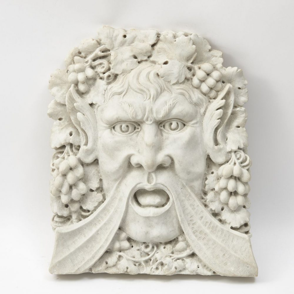 Italian Marble Relief Of Bacchus