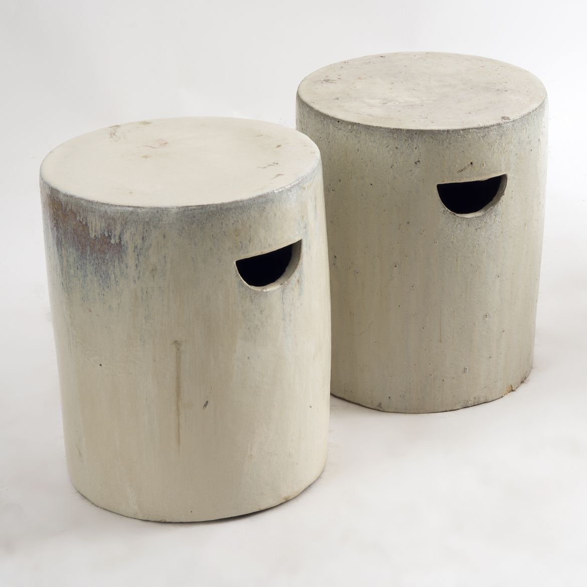 Cream Canister Stools