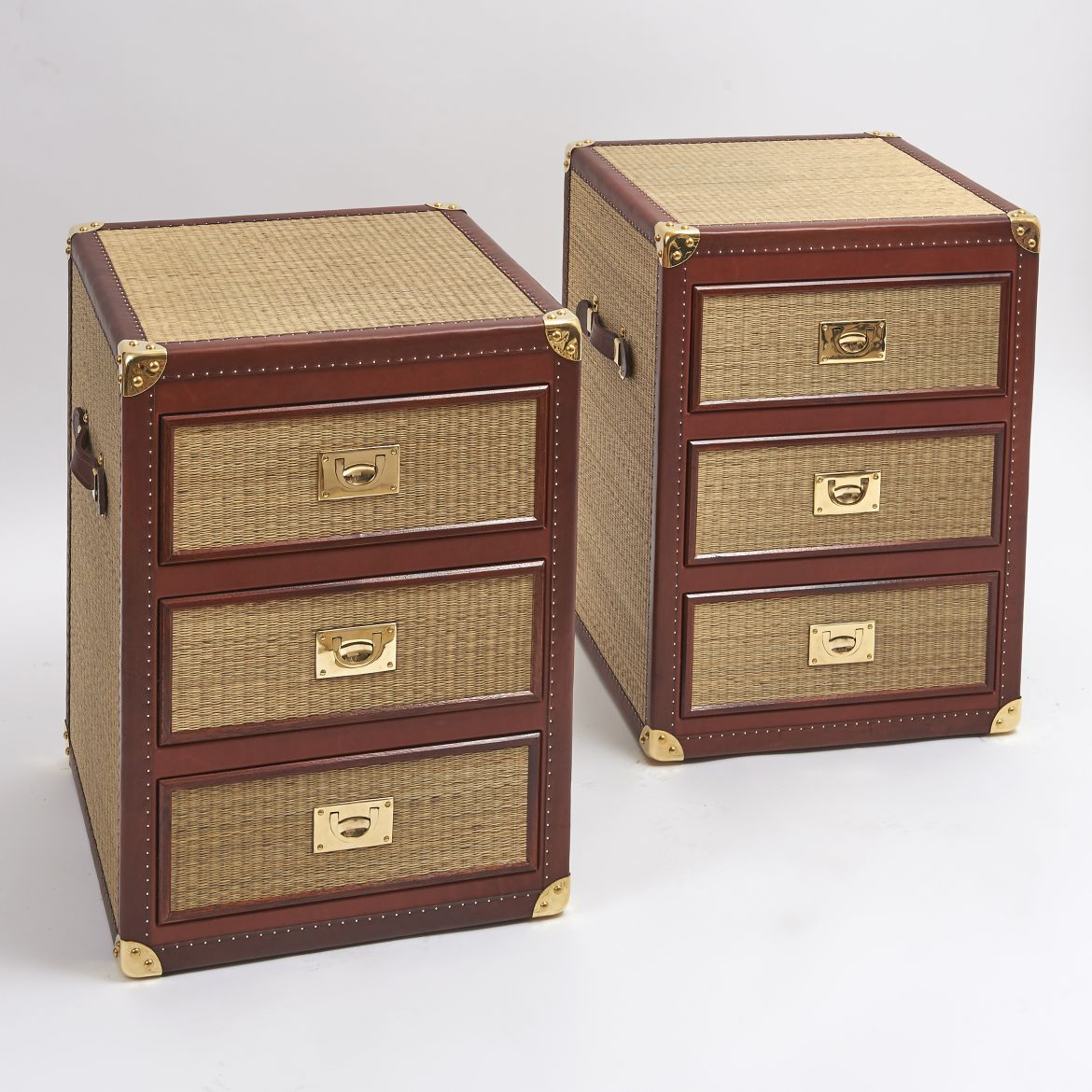 Pair of Rattan Bedside Drawers