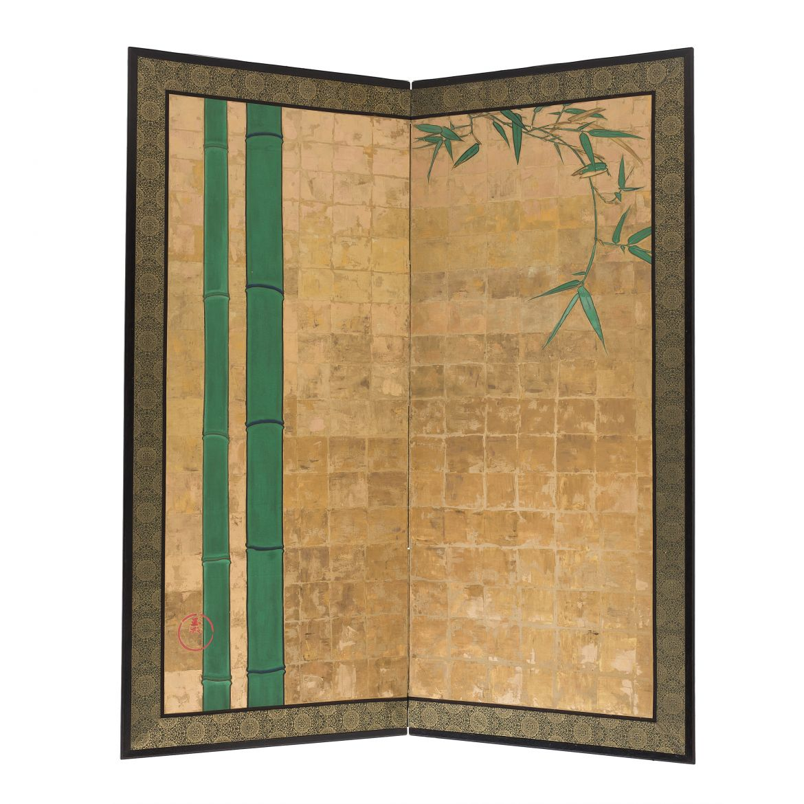 Two Fold Gold Screen