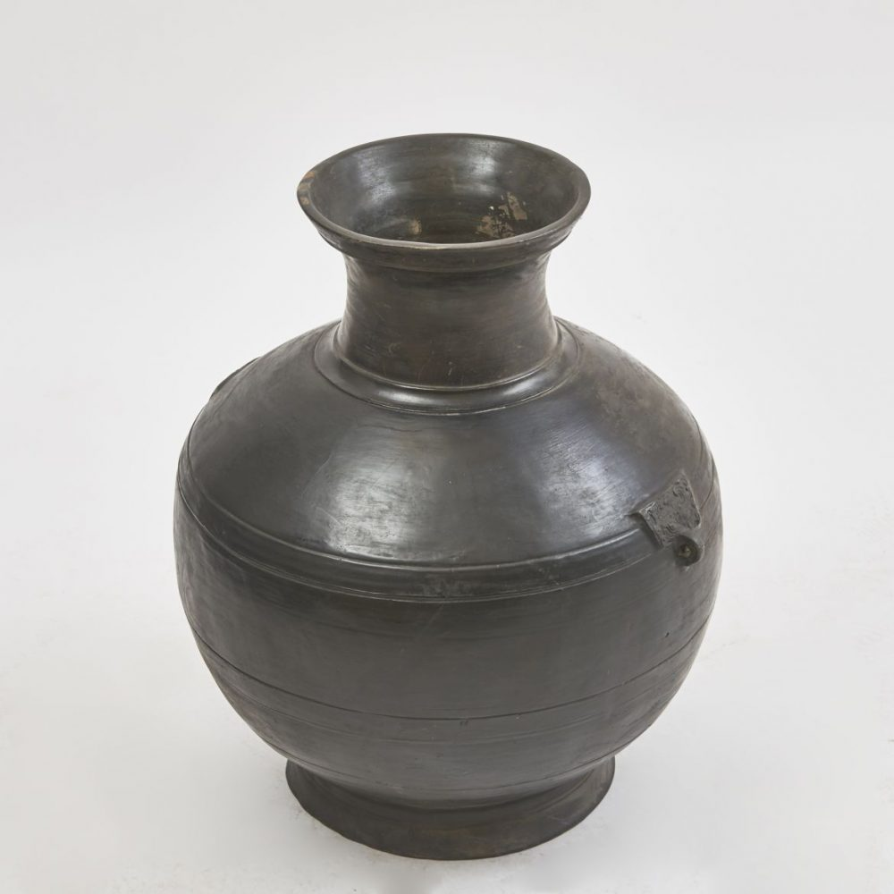 Large Black Han Dynasty Vase