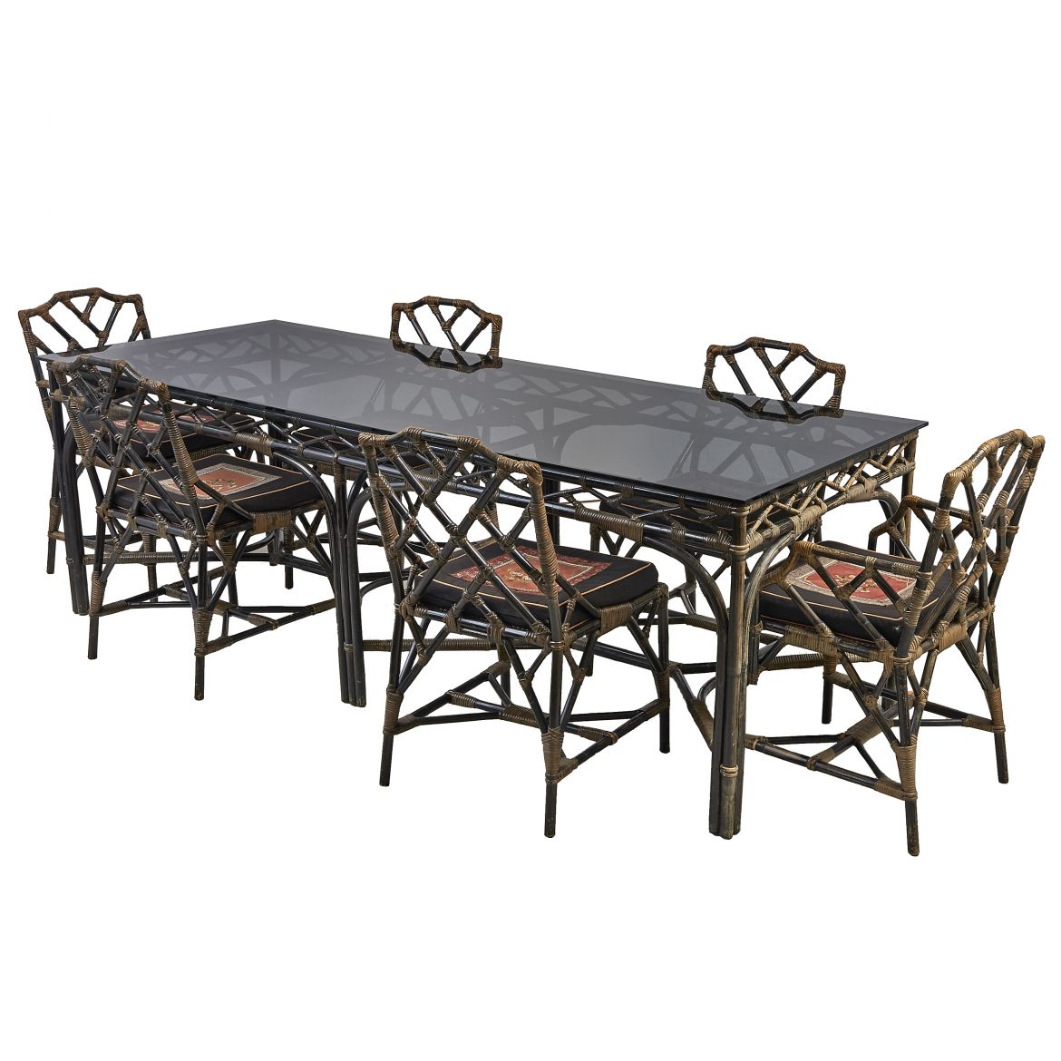 English Bentwood Dining Table Set