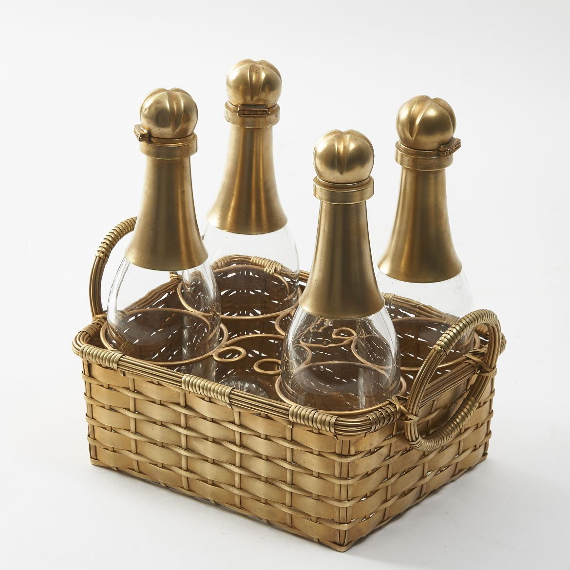 Set of Champagne Shaped Bottles