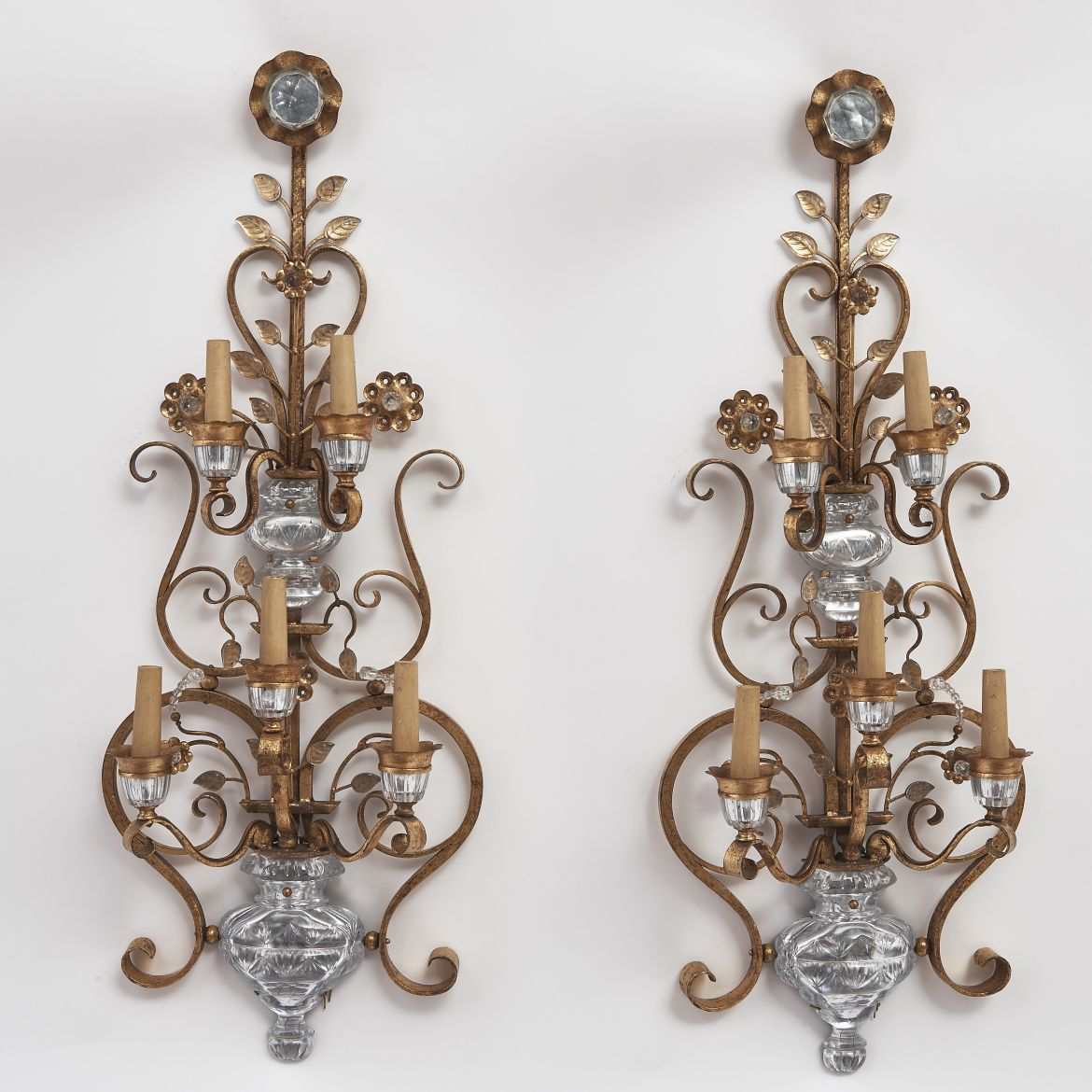 Large 'Bagues' Style Sconces