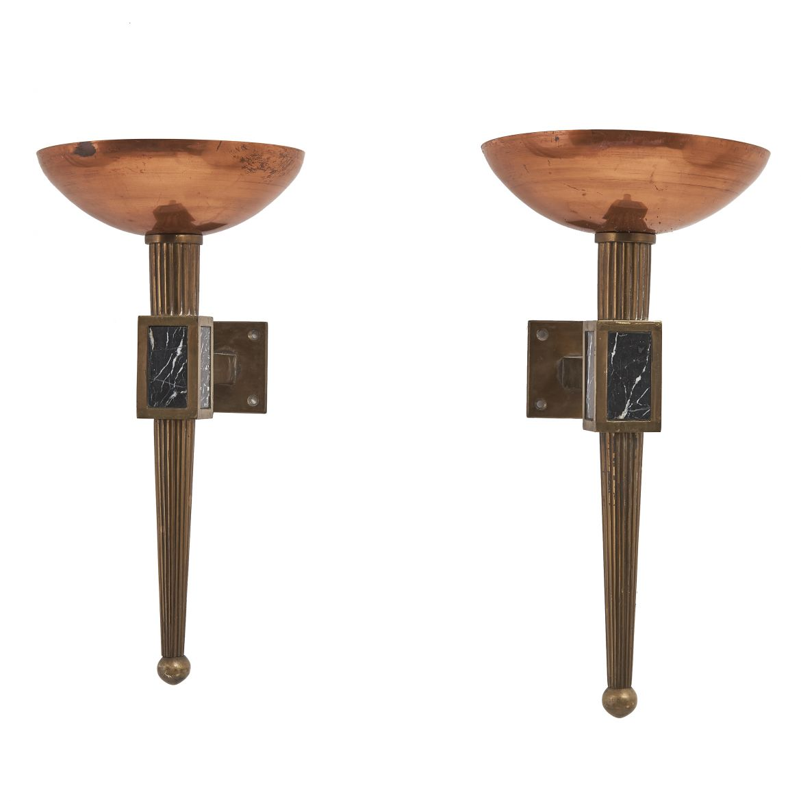 Brass and Copper Torcheres