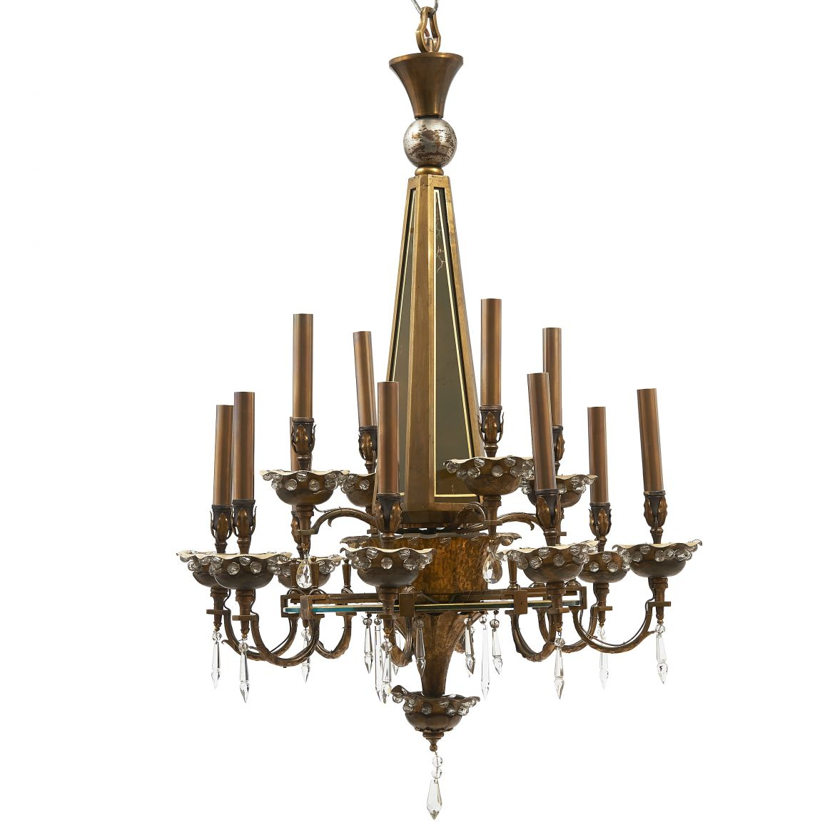 Bronze & Crystal Bagues Chandelier