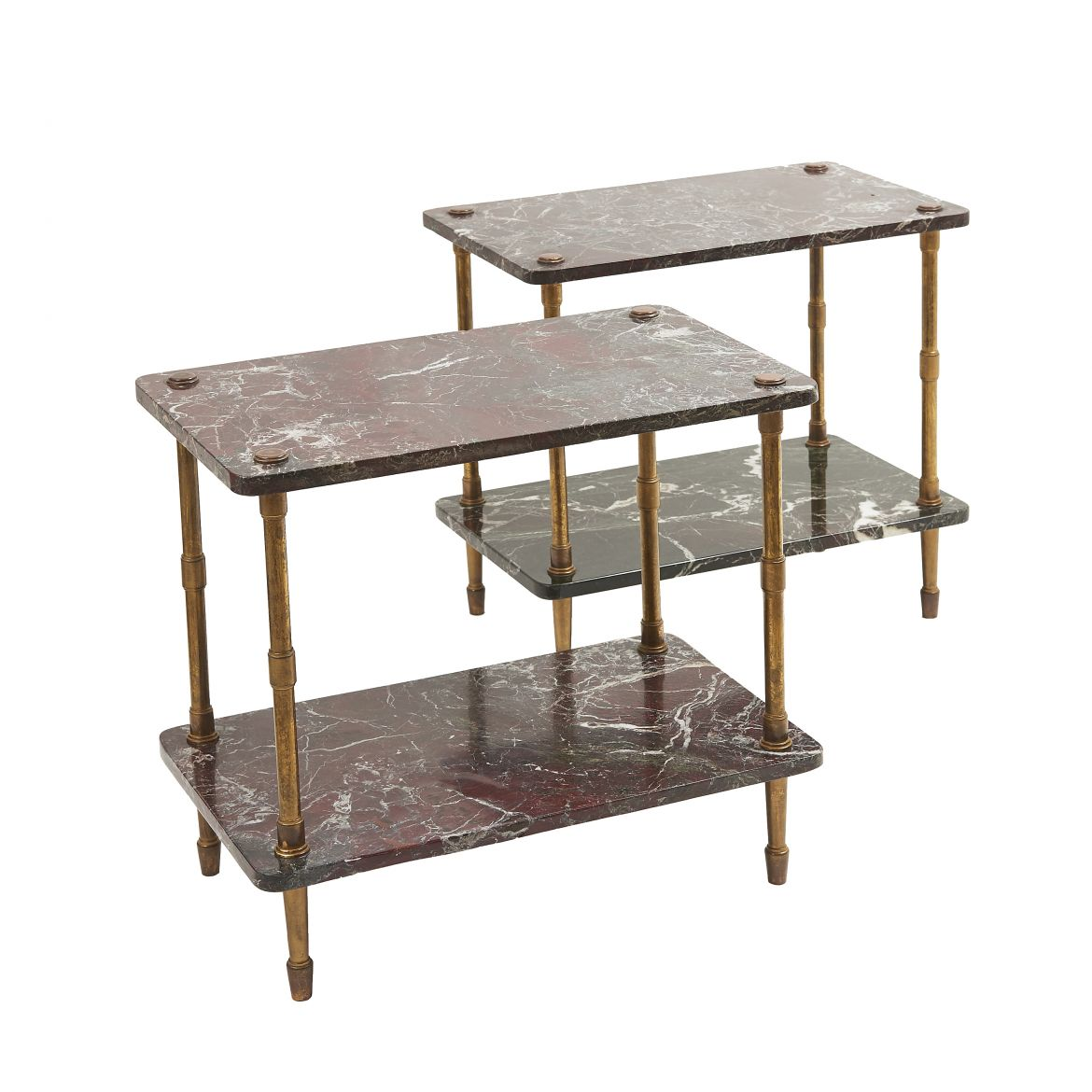 Marble & Brass End Tables