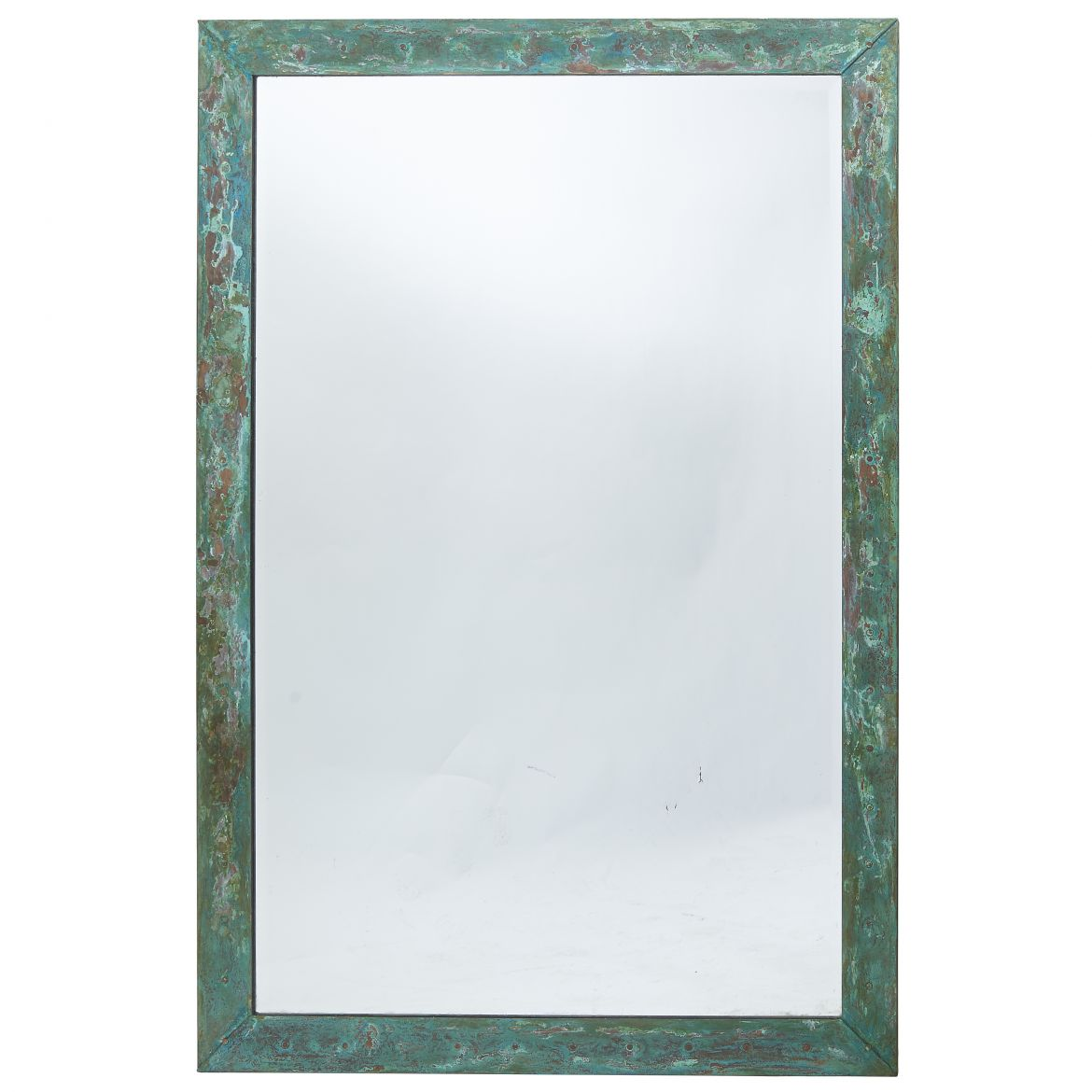 French Patinated Copper Mirror