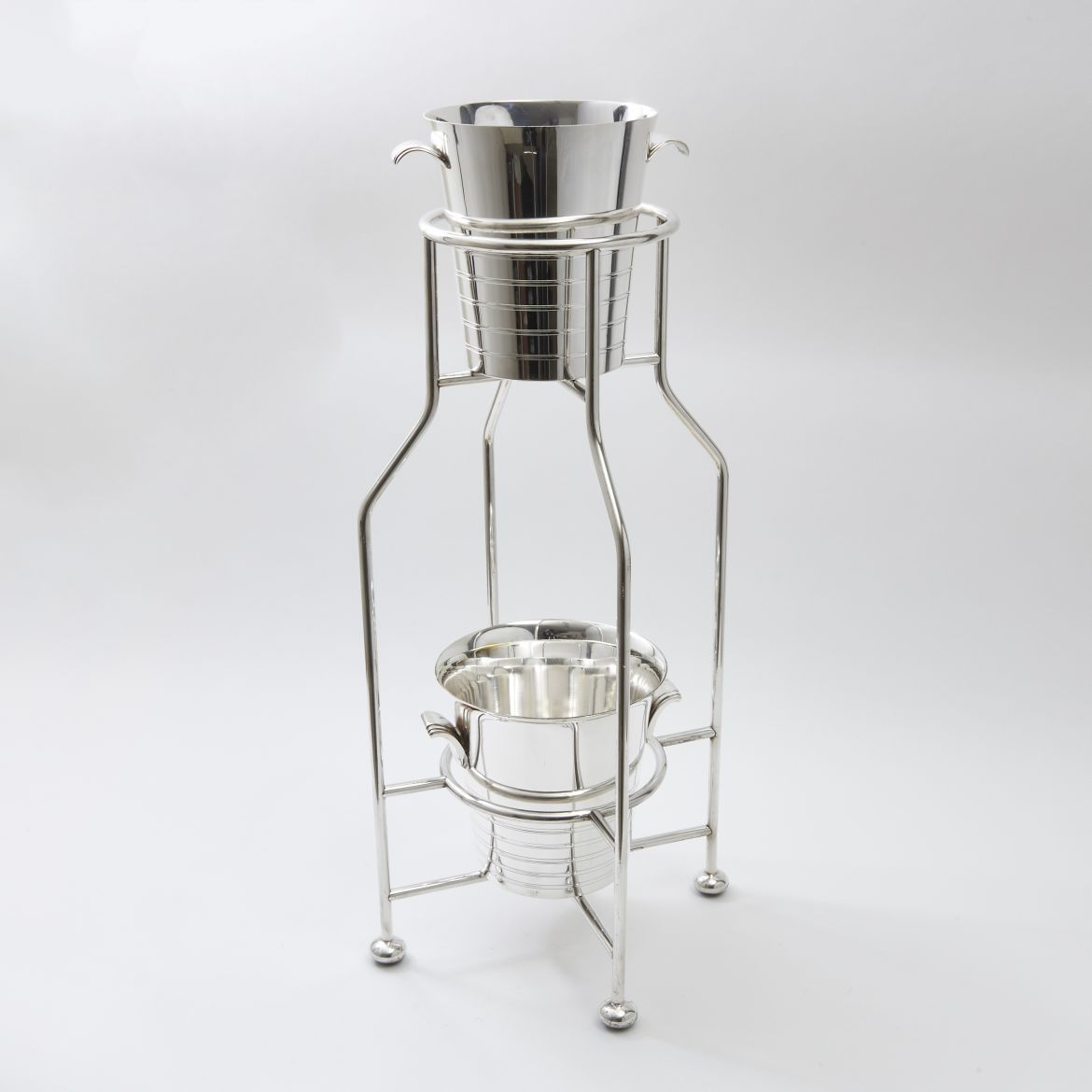 Two Tier Ice Buckets on Stand