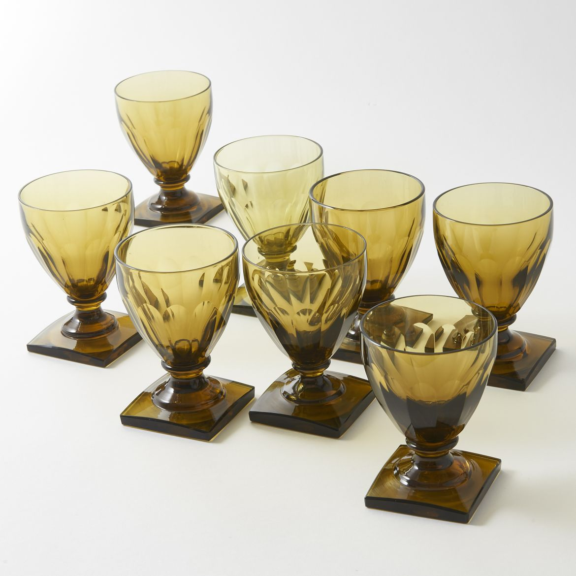 Coloured Val St Lambert Wine Glasses