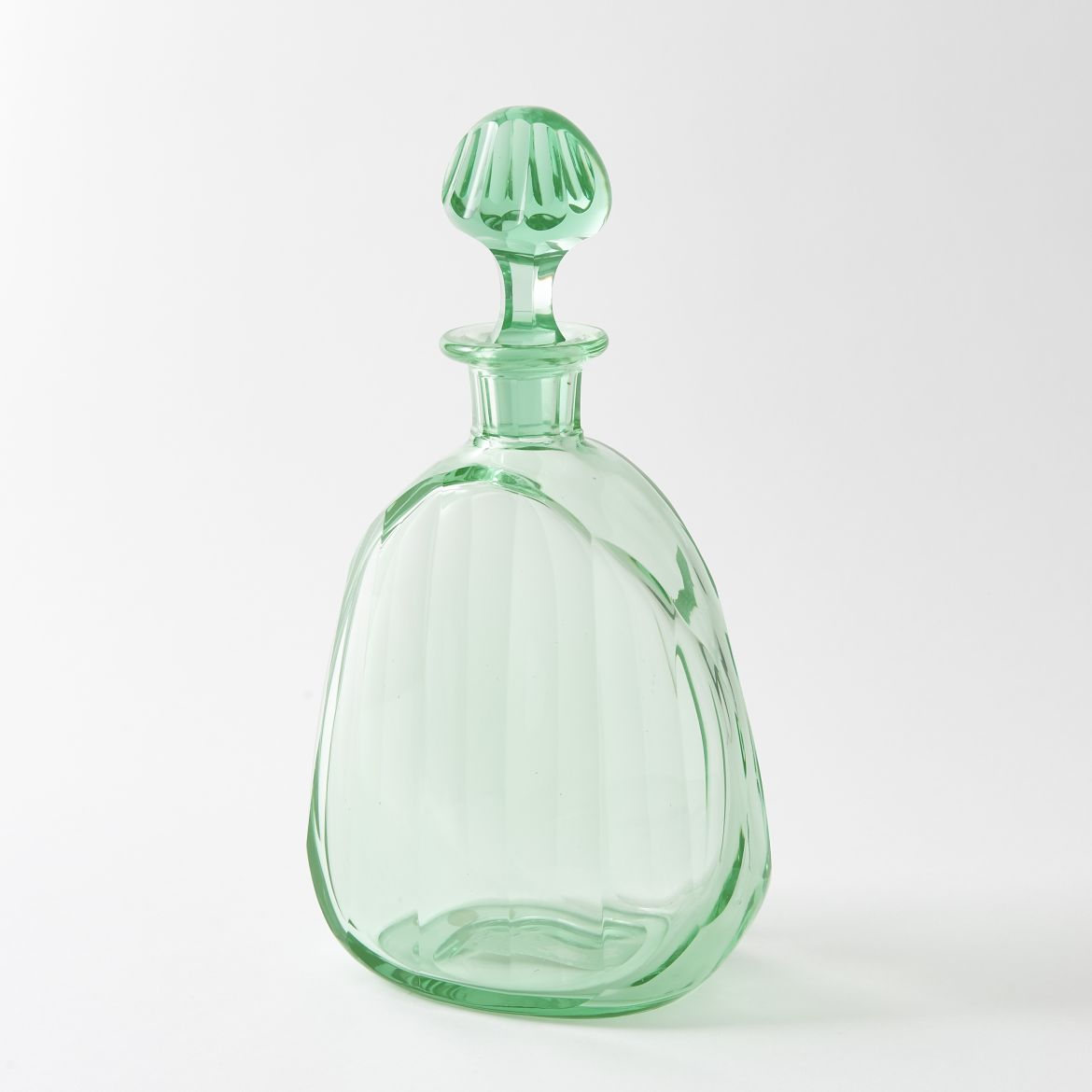 Uranium Cut Glass Decanter
