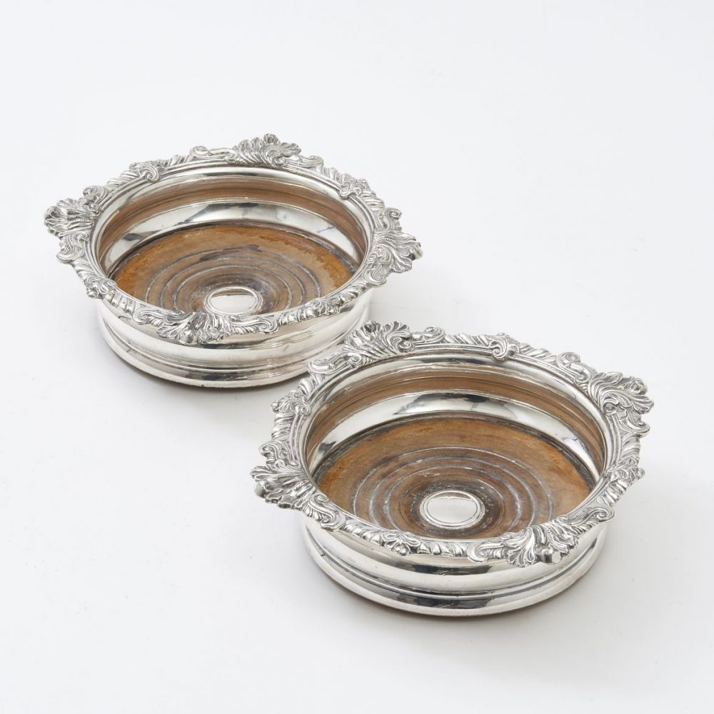 George II style Silver Plate Coasters