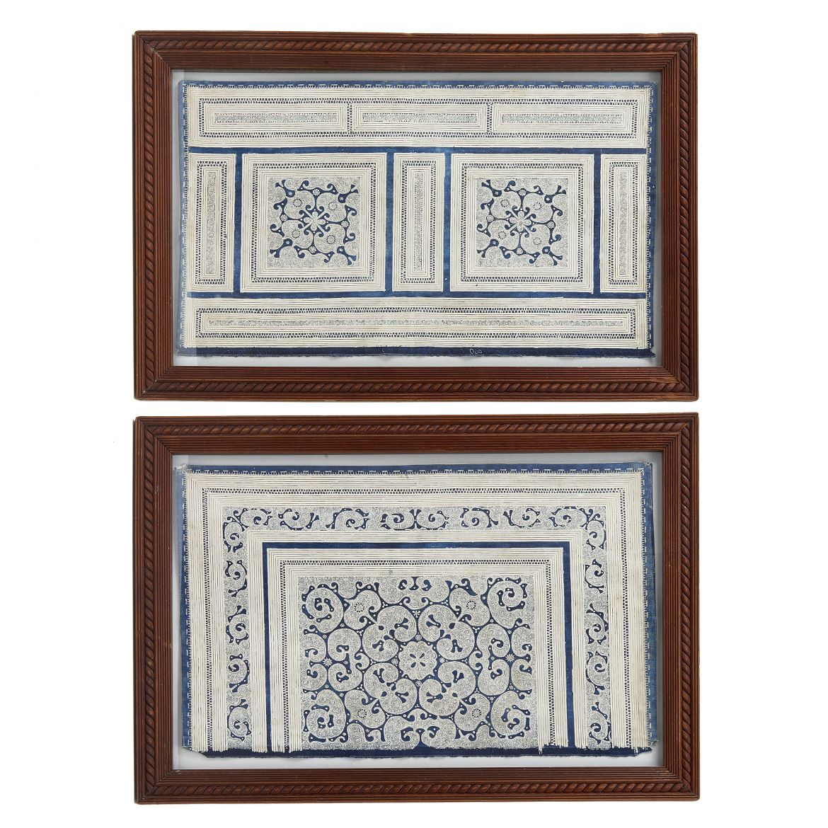Pair of Chinese Block Printed Panels