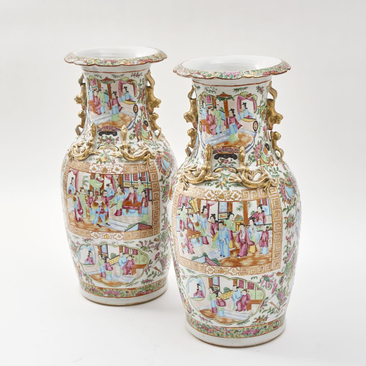 Guinevere antiques product categories vases urns pair of chinese famille rose vases reviewsmspy
