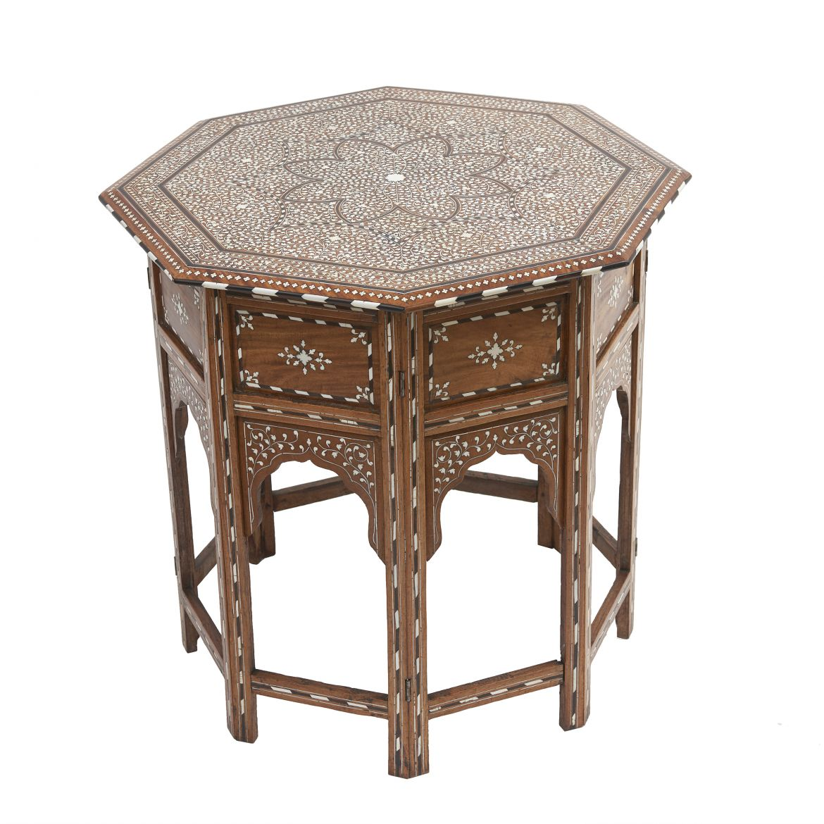 Indian Folding Octagonal Table