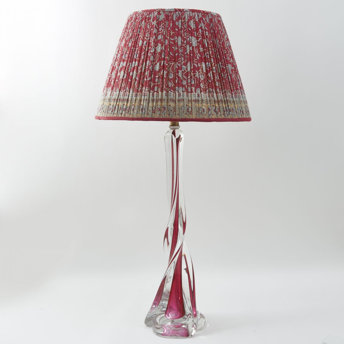 Val St Lambert Glass Lamp
