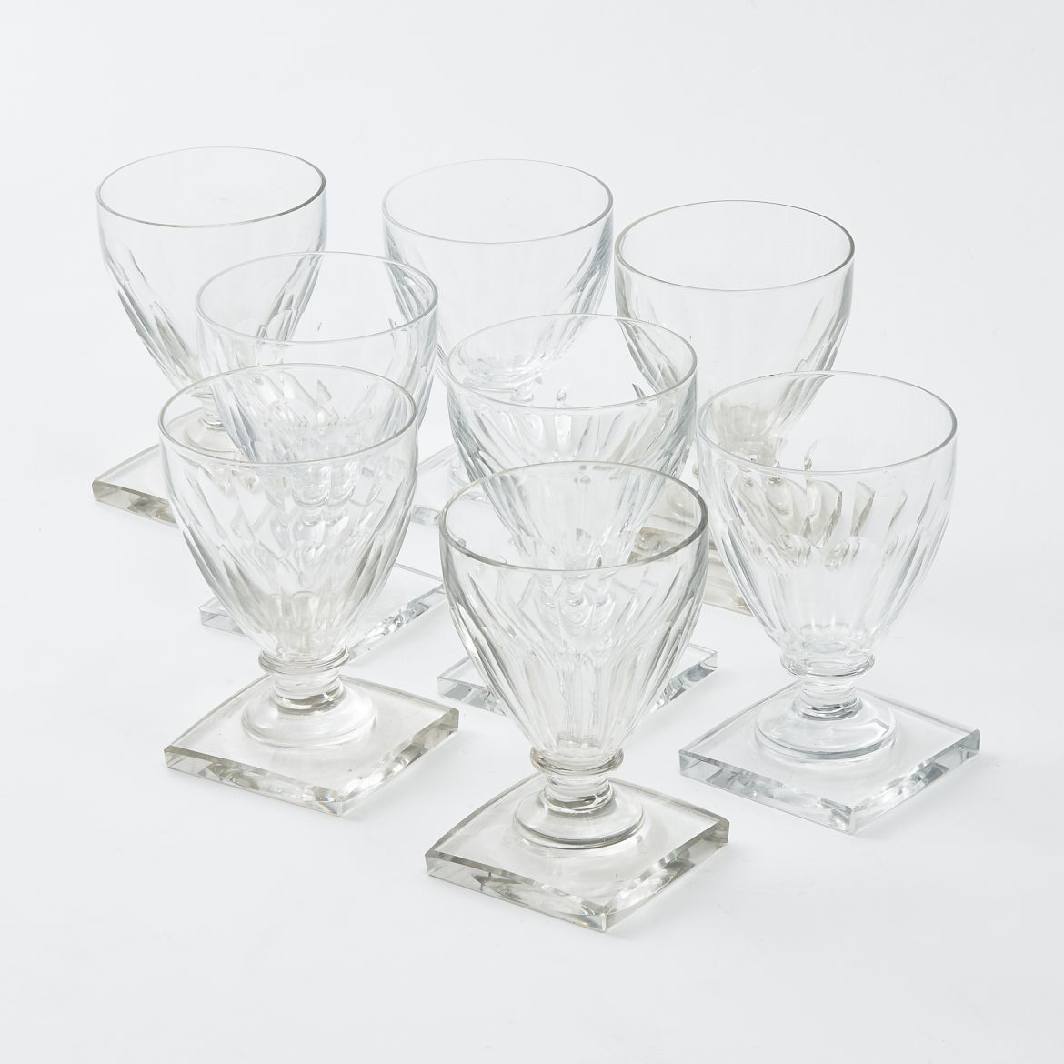 Set 8 Val St Lambert Glasses