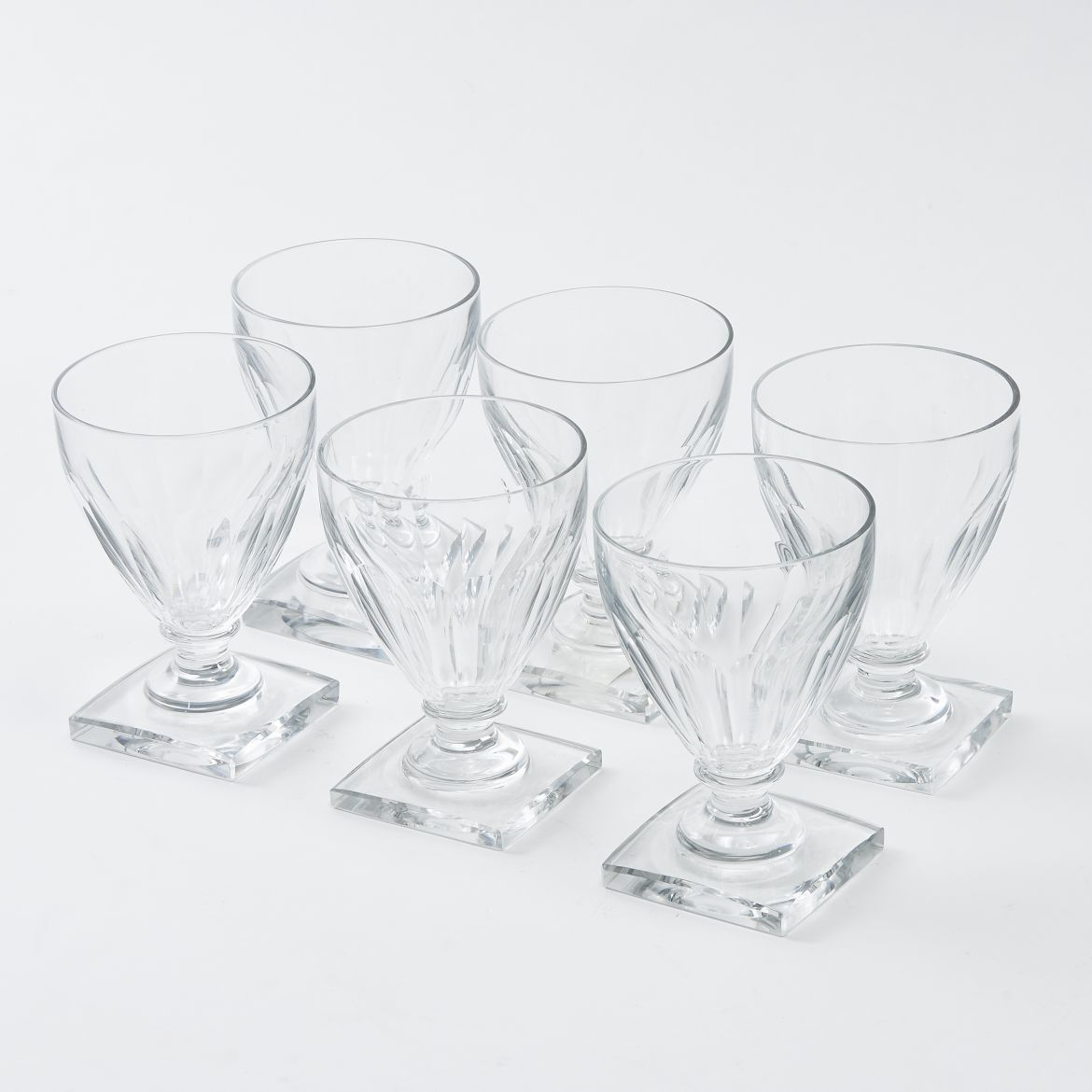 Six Val St Lambert Glasses