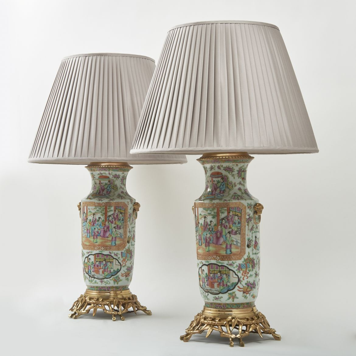 Pair Chinese Canton Vases