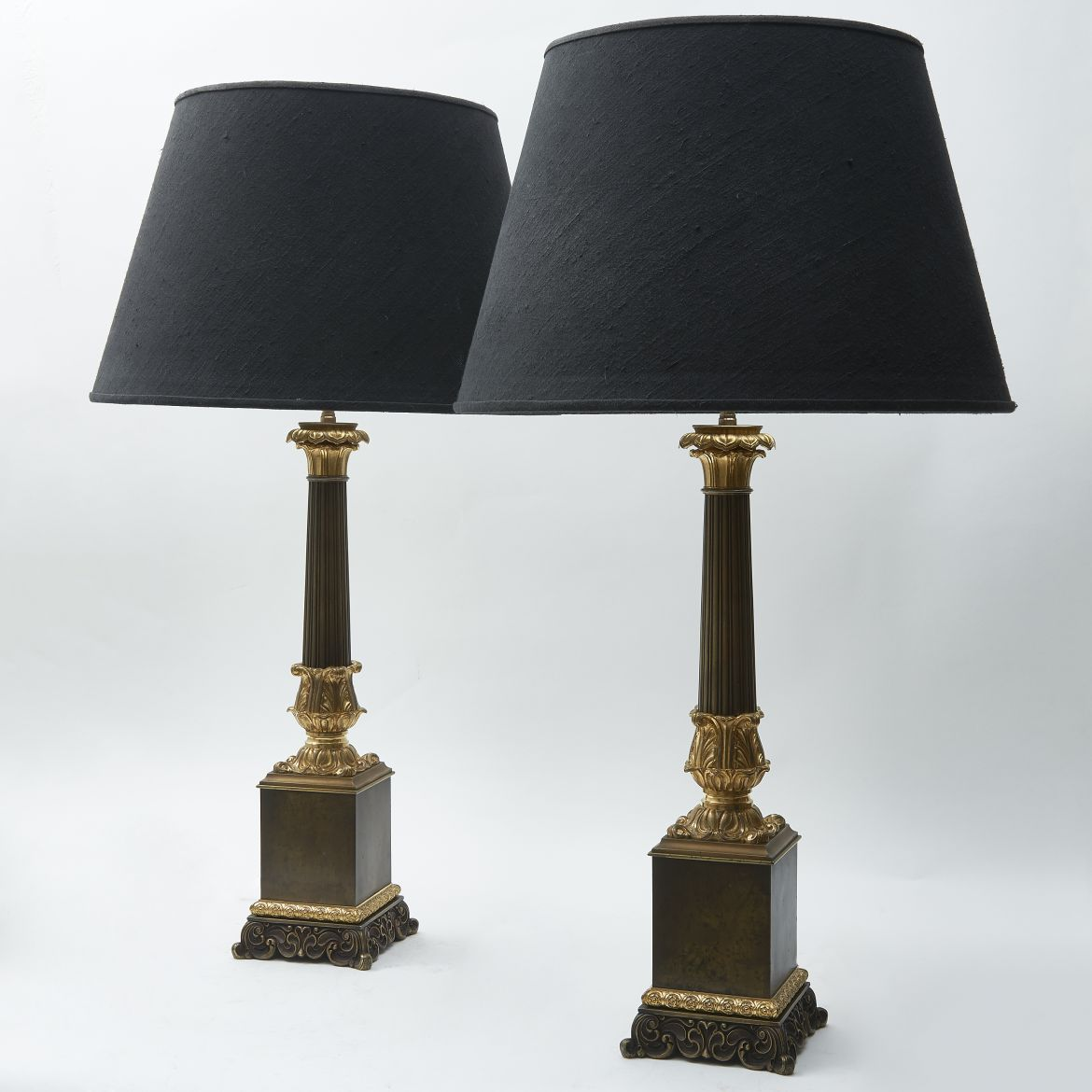 Louis Philippe Patinated Bronze Lamps
