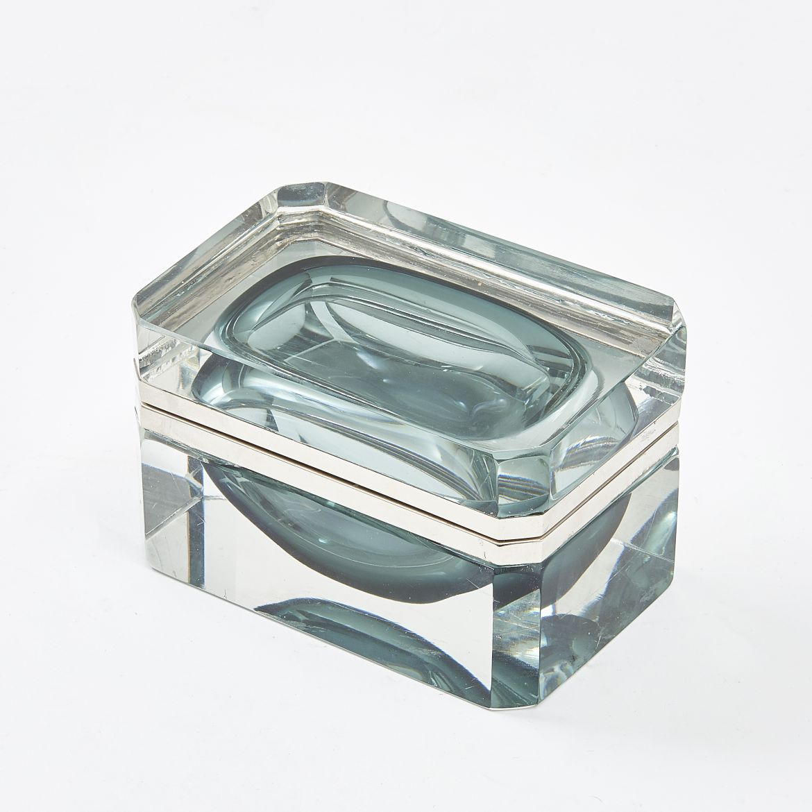 Dark Teal Murano Glass Casket
