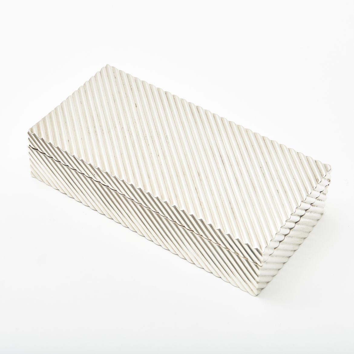 Silver Plate Ribbed Box