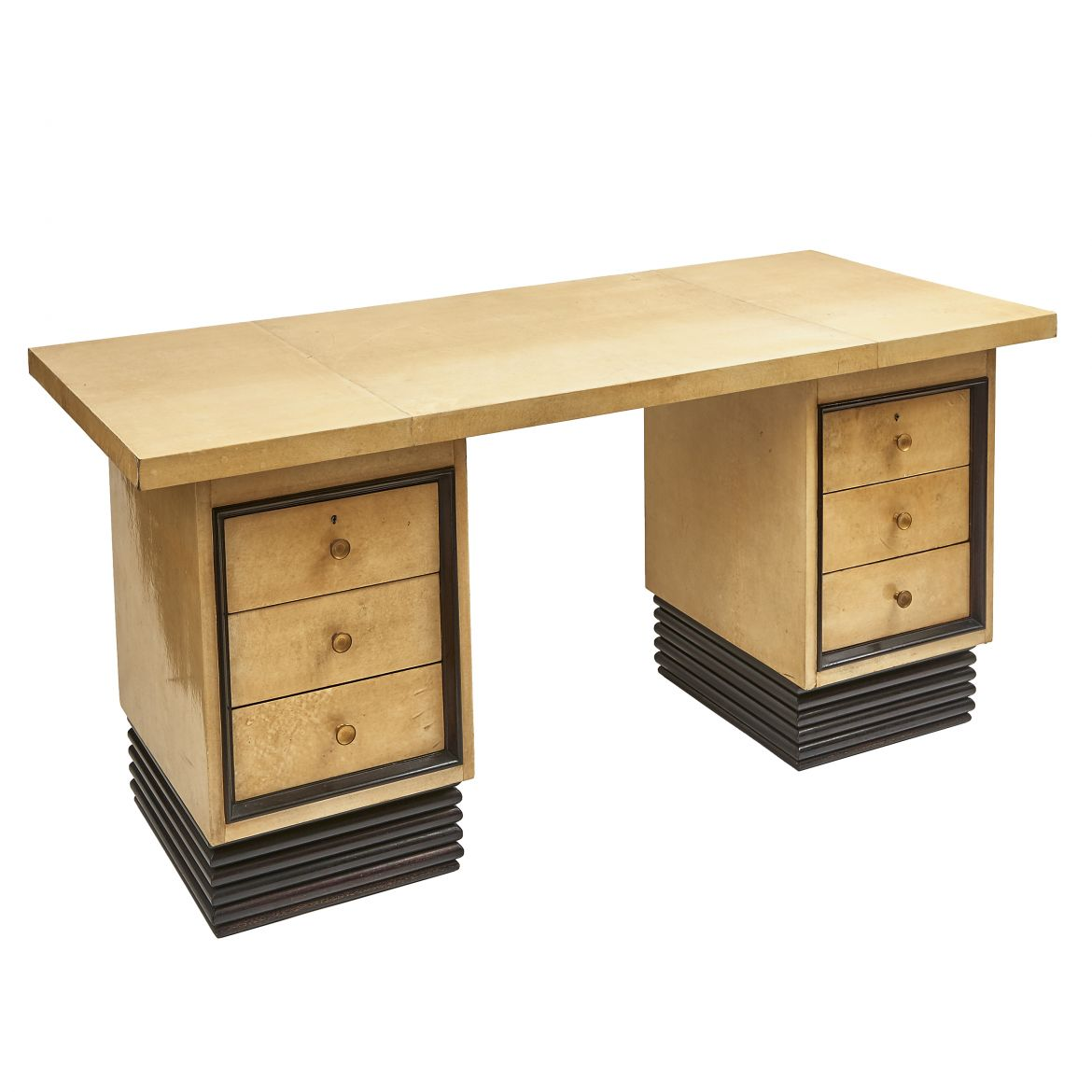 Art Deco Vellum Veneered Desk