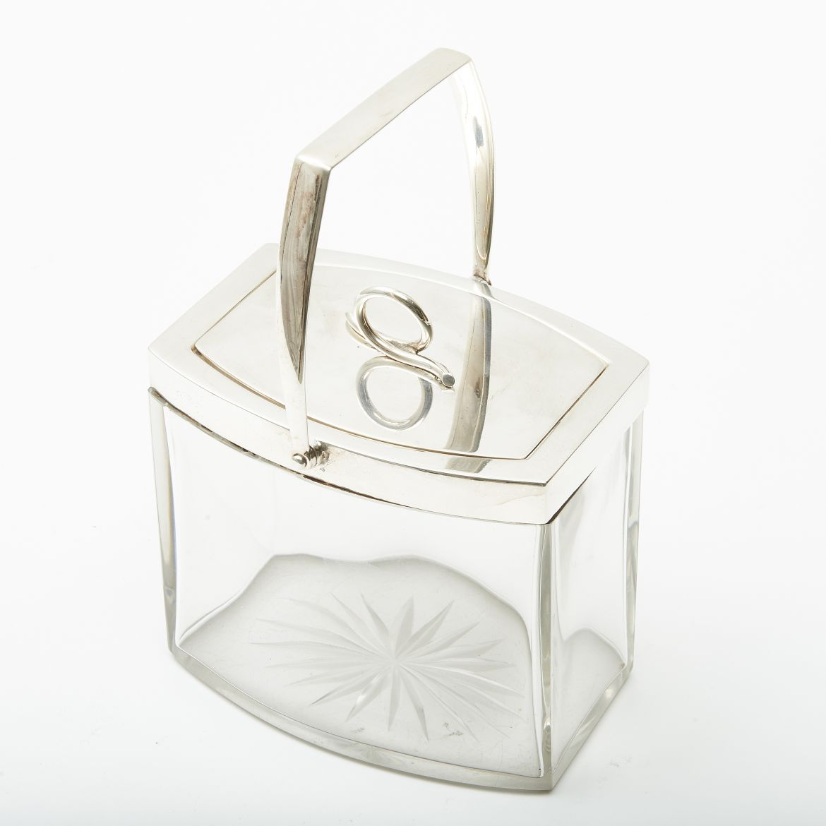 Glass and Silver Plate Box