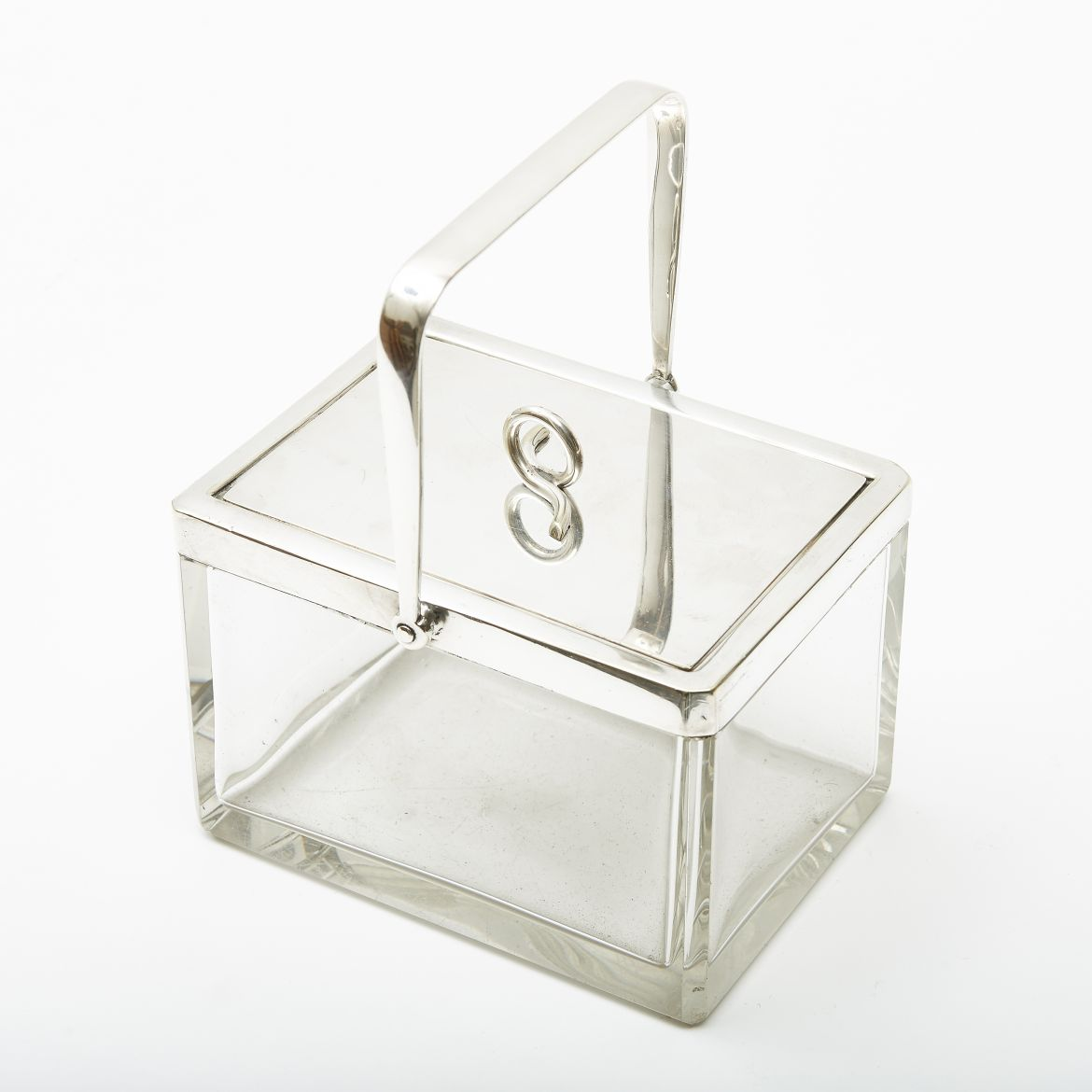 Cut Crystal Box With Handle