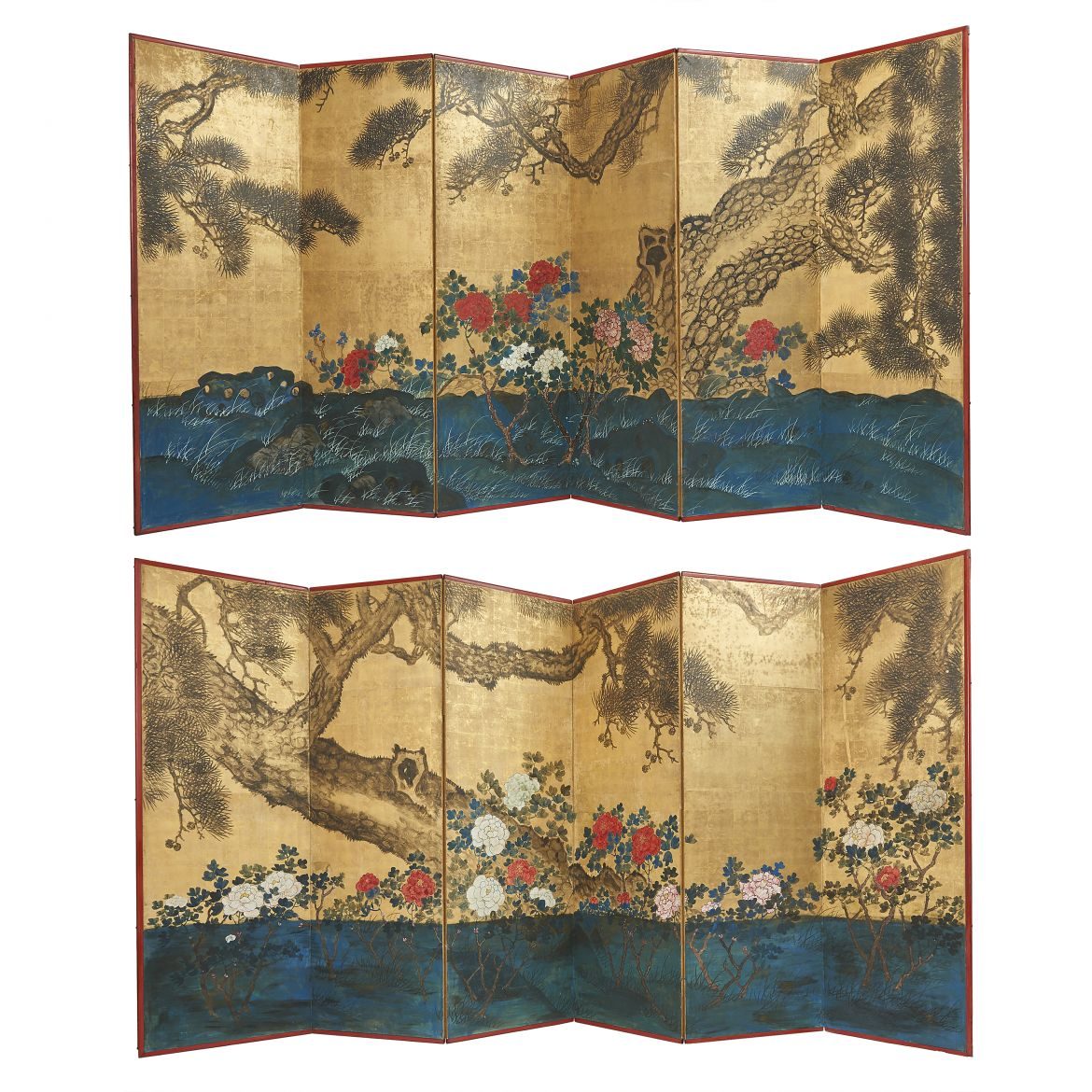 Pair Floral Screens