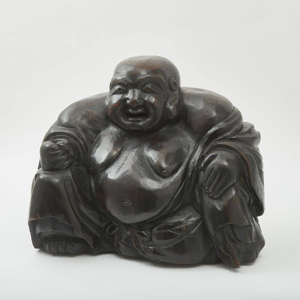 Japanese Carved Wooden Buddha