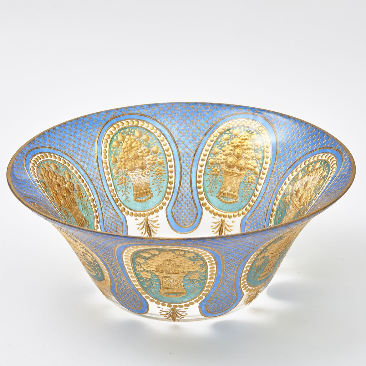 Highly Decorated Bohemian Bowl