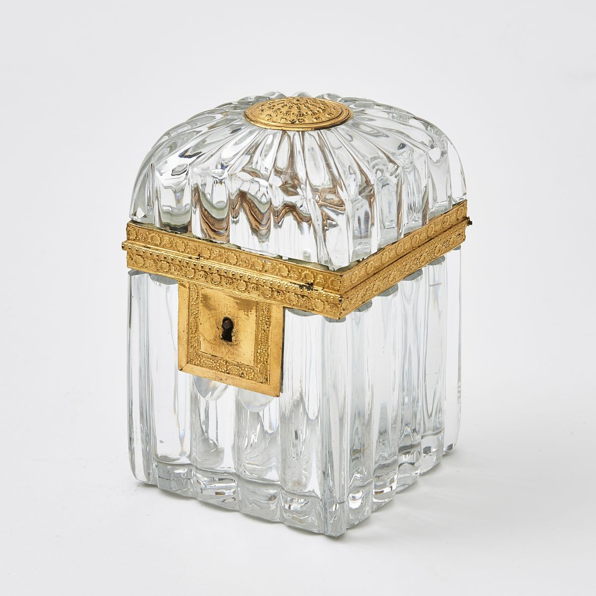 French Charles X Glass Casket