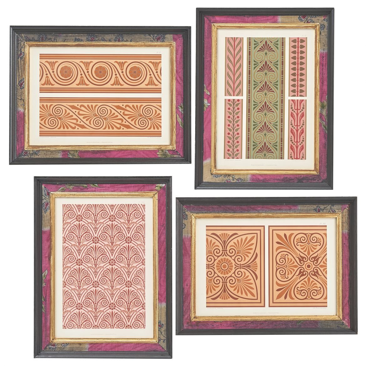 Pink/ Orange Toned Design Lithographs