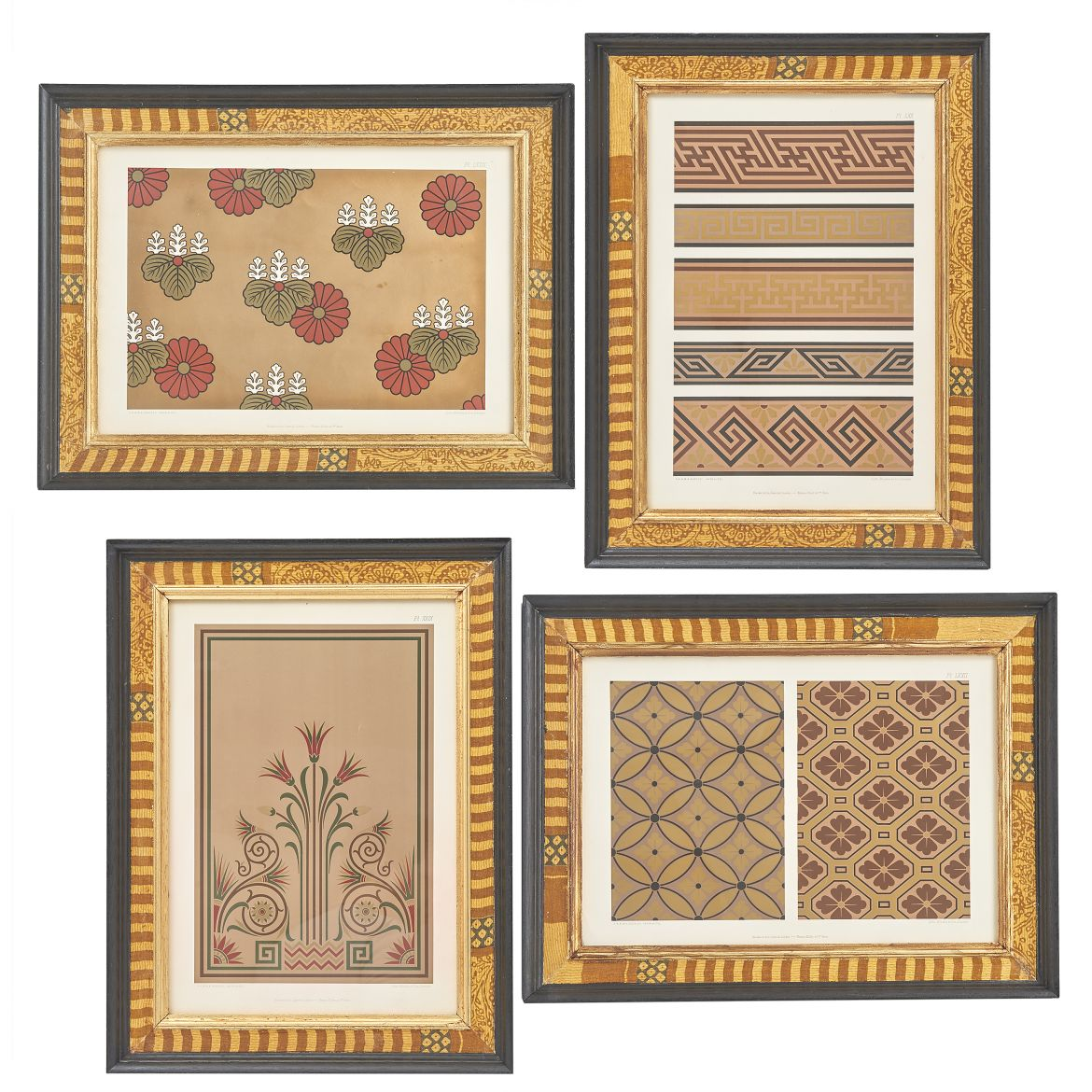 Earthy/Gold Tone Design Lithographs