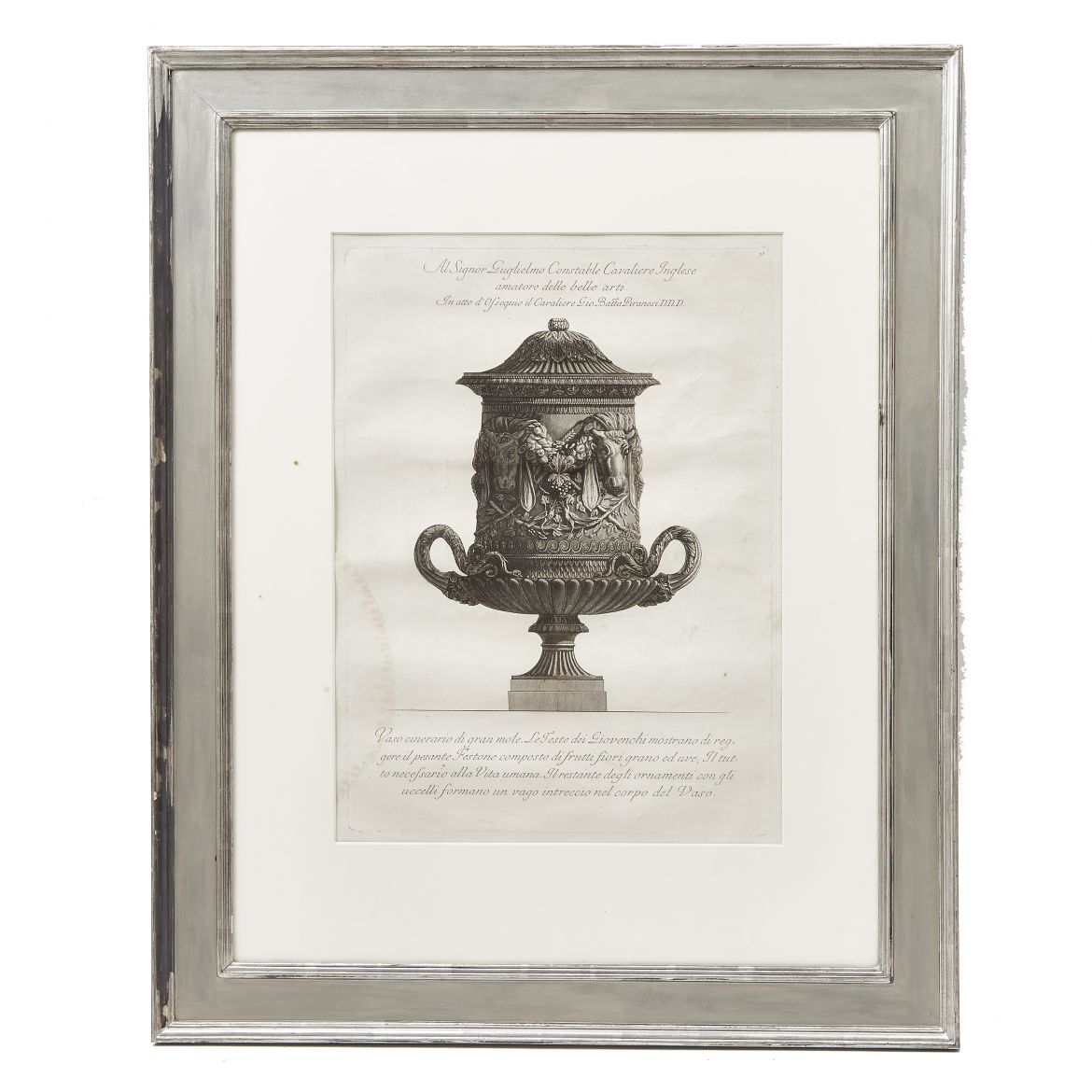 Piranesi in Silvered Frame