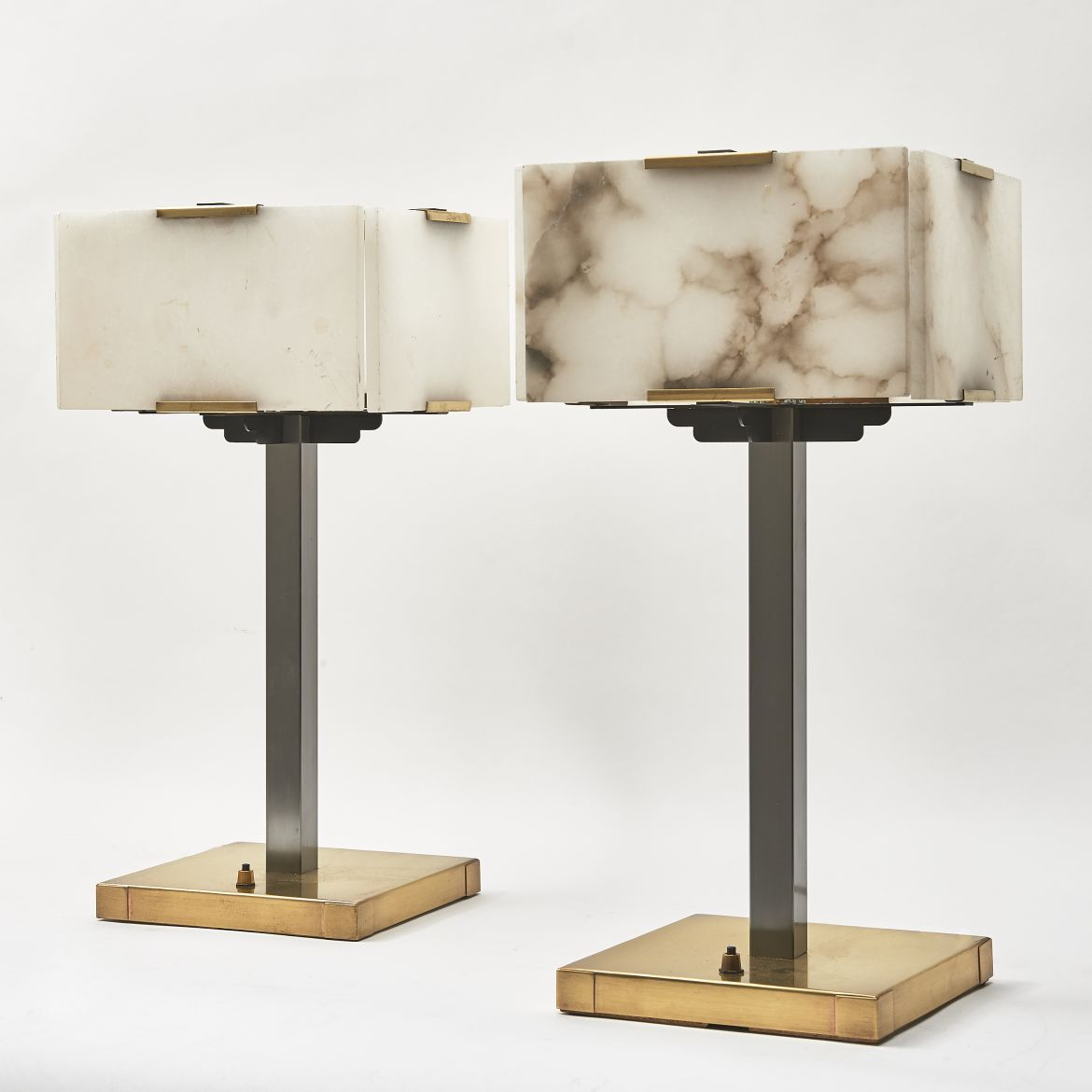 Pair Alabaster Lamps