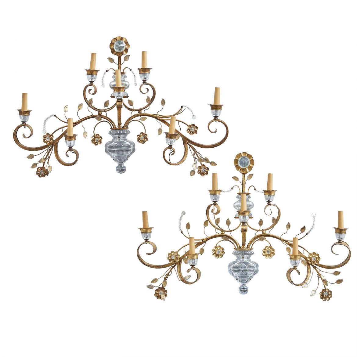 Italian 'Vase of Flowers' Sconces