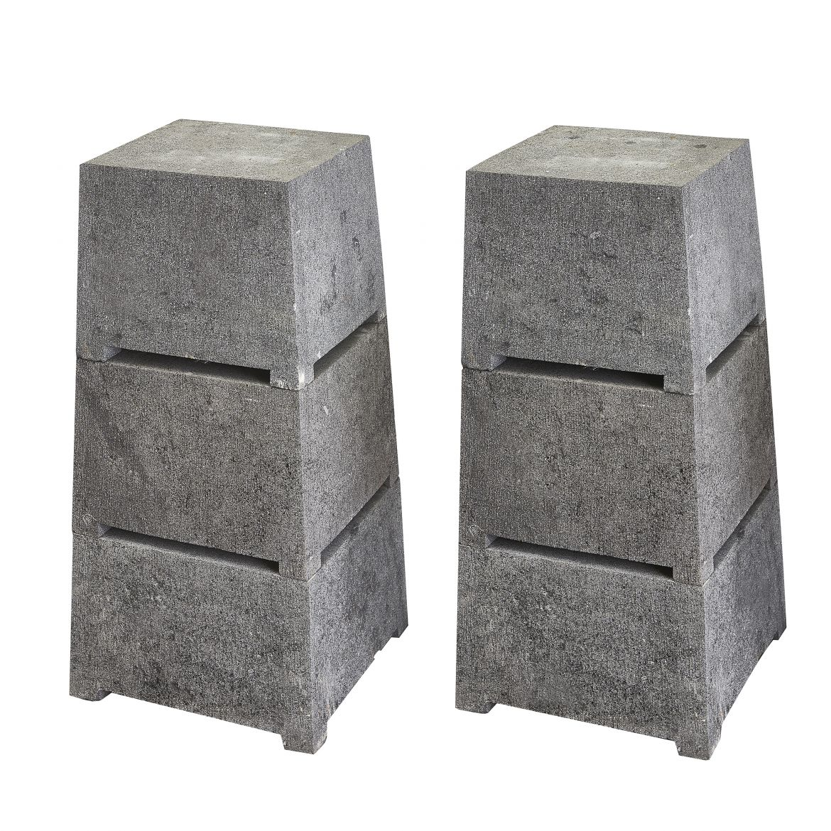 Pair Three Part Stone Plinths