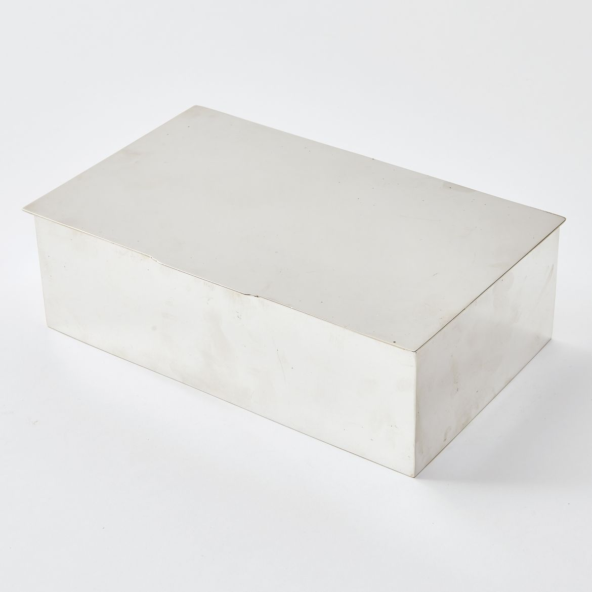 Rectangular Silver Cigarette Box