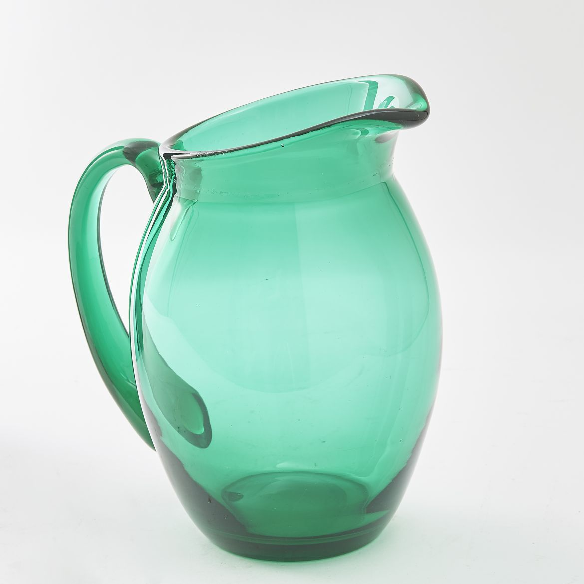 English Green Glass Jug