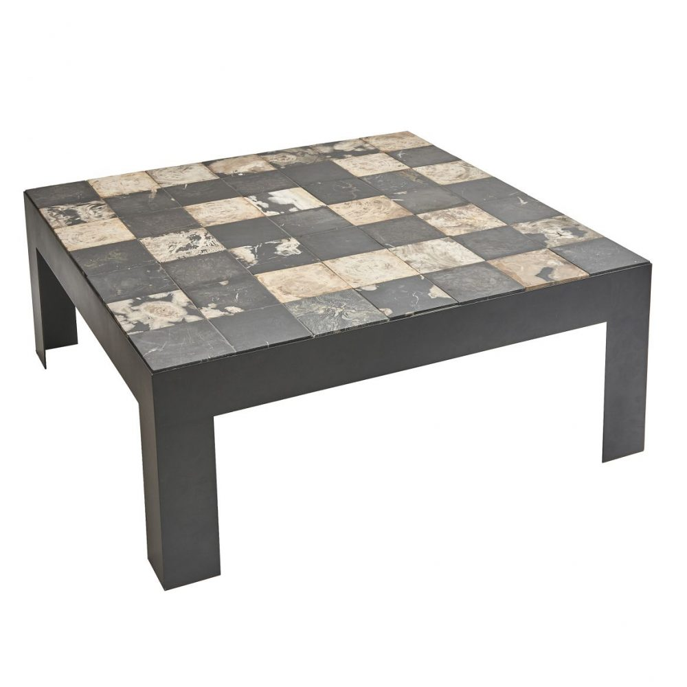 Tiled Petrified Wood Coffee Table