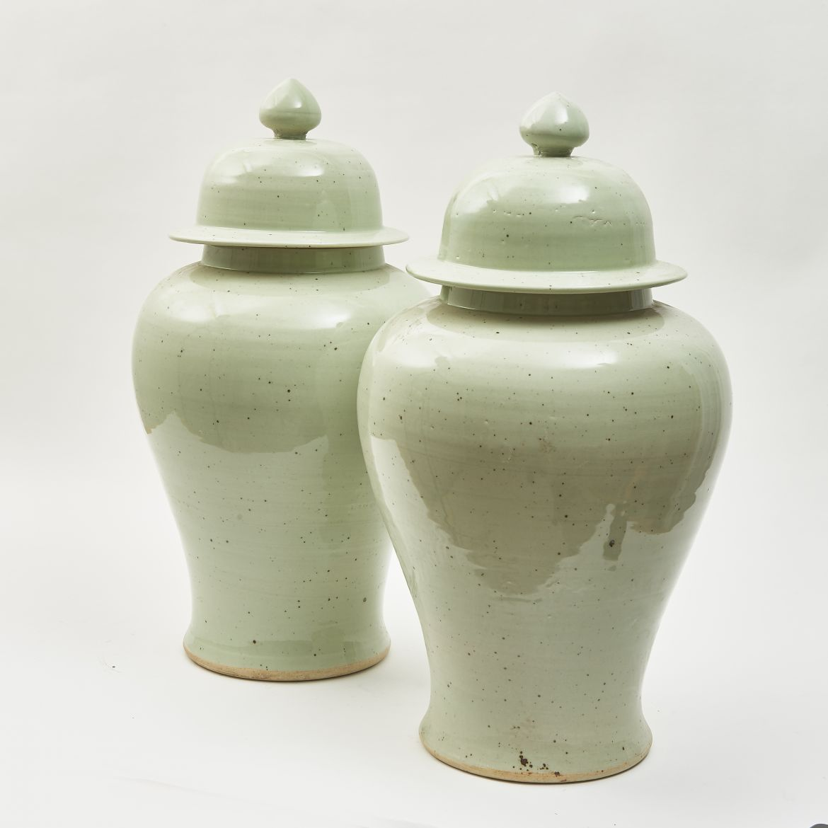 Pair Chinese Temple Jars